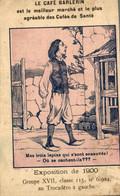 CHROMO DEVINETTE CAFE BARLERIN EXPOSITION DE 1900 OU SONT LES TROIS LAPINS - Tè & Caffè