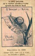CHROMO DEVINETTE CAFE BARLERIN EXPOSITION DE 1900 CHERCHEZ L'INDIEN - Tè & Caffè
