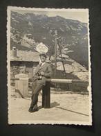 1937 PASSO DELLA SPLUGA SPLUGEN DOGANE SVIZZERE UOMO HOMME CAMERA MACCHINA FOTOGRAFICA - Places