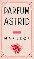 Carte Parfumée Parfum Astrid Marleor - Oud (tot 1960)