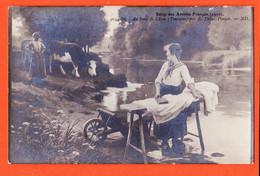 VaU100 Lavandières De TOURAINE Au Bord De L'eau Par DEBAT-PONSAN Scène Lessive Salon Artistes Français 1910 NEURDIN 4654 - Pays De La Loire