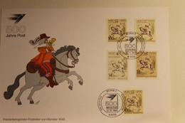 BRD; Sonderblatt,Erinnerungsblatt,Gedenkblatt: 500 Jahre Post; Fünfländer Frankatur, Stempel Bonn 1990 - Zonder Classificatie