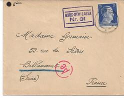 3 Lettres  Du STO  (Firma DUCLUZAUX ZINANI  )   Cachet De Censure Du  BRUX STW  Lager 31 Vers  Billancourt - WW II