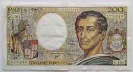 France - 200 Francs - 1994 - PICK 155f / F70/2 - TTB - 200 F 1981-1994 ''Montesquieu''