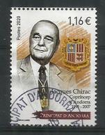 Homenaje A Jacques Chirac, Presidente Y Copríncipe De Andorra. Un Sello Usado  Año 2020, 1ª Calidad - Oblitérés