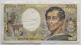 France - 200 Francs - 1994 - PICK 155f / F70/2 - TB+ - 200 F 1981-1994 ''Montesquieu''