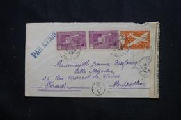 RÉUNION - Enveloppe De St Denis Pour Montpellier En 1945 Avec Contrôle Postal  - L 75063 - Storia Postale