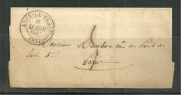 Marcophilie / LAC (83) Ancy Le Franc / Cachet De 1847 - 1801-1848: Voorlopers XIX