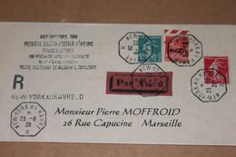 1928 90 Centimes Berthelot Surcharge Inversée - 1927-1959 Briefe & Dokumente