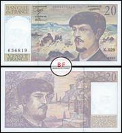 France | 20 Francs | 1990 | P.151d | UNC - 20 F 1980-1997 ''Debussy''
