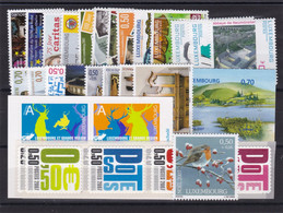 Luxembourg    2007  N° 1680 à 1720 Sauf N° 1705/1709  , Neuf ** , TB - Unused Stamps