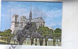 75 Paris Carte Système à Tirette Cathédrale Notre Dame De Paris En Tirant La Pieta Sculpteurs Coustou Et Cotsevox  - CPM - Notre Dame De Paris