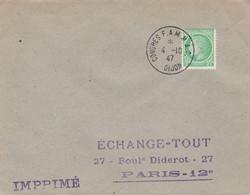 OBLIT. TEMPORAIRE FAMMAC (FEDERATION ASSOC. MARINS & MARINS ANCIENS COMBATTANTS) DIJON 4.10.47 - Bolli Commemorativi