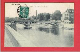 MELUN 1909 PONT DES MOULINS CARTE EN TRES BON ETAT - Melun
