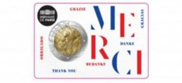 """Frankrijk  2020    2 Euro Commemo In De Coincard """"MERCI""""  """"Médical Rechearch""""   Leverbaar - Livrable !! - France"""
