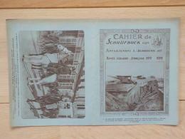 1920  Protège-cahier Schrijfboek Batterie Allemande Devant Parc Palace-Hôtel Ostende Famille Royale Entrée Bruxelles - Oostende
