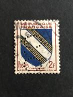 FRANCE C N° 953 Armoirie C.C. 55 Indice 4 Perforé Perforés Perfins Perfin Superbe !! - Perforadas
