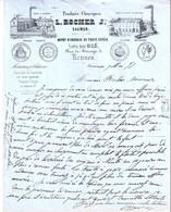 Facture Du L. Rocher Jne., Produits Chimiques, Saumur 1857 - 1800 – 1899