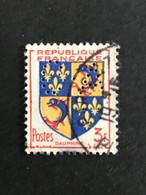 FRANCE C N° 954 Armoirie C.A 17 Indice 2 1953 Perforé Perforés Perfins Perfin Superbe !! - Perforadas