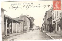 CPA Champier Quartier De La Halle 38 Isère - Sonstige Gemeinden