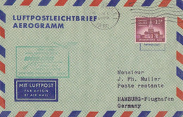 Lettre 1° Vol Air Sans Escale New-York - Frankfurt Obl. Flamme New-York 1 Le 1 Avr 60 Sur N° 615 - 1c. 1918-1940 Cartas