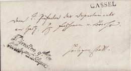Thurn & Taxis Brief L1 Cassel (7.5.1809) Gel. Nach Heiligenstadt Mit Nebenstempel Und Inhalt - Thurn And Taxis