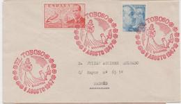 MARCA CONMEMORATIVA DE DULCINEA - EL TOBOSO - 1931-50 Storia Postale