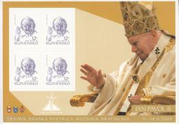 2003 Slovakia Pope John Paul II  Souvenir Sheet MNH - Ongebruikt