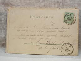 BELGIQUE - CPA TRES BELLE FANTAISIE - BELLES OBLITERATIONS RONDES DE JAUCHE ET LA LOUVIERE SUR 5c VERT 1900 - Landpost (Ruralpost)