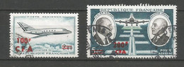 Timbre De  Réunion C-f-a En Oblitere  P-a N 61/62 - Airmail