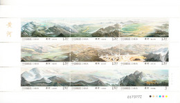 2015 China Yellow River Miniature Sheet Of 9 MNH - Ongebruikt