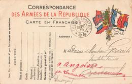 Guerre 1914 1918 Carte Franchise Militaire 1915 Cachet Tresor Et Postes Secteur Postal 88 Gervaise Excideuil - Guerra 1914-18