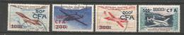 Timbre De  Réunion C-f-a  Oblitere  P-a N 52/55 - Posta Aerea