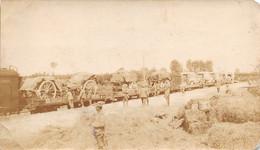 """1560 """"FOTO-CONVOGLIO FERROVIARIO SUSSISTENZA -STAZIONE DI PALMANOVA-1916-I GUERRA- ANIMATA """" - Barcos"""