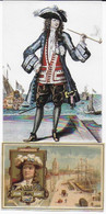 Jean BART Capitaine De Dunkerque : Une Carte Postale Et Un Chromo - Historical Famous People