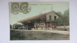 CPA Anciennne ,bonnetable Gare. - Bonnetable