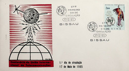1965 Guiné Portuguesa FDC Centenário Da União Internacional Das Telecomunicações - Portugiesisch-Guinea