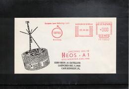 Netherlands 1968 Space / Raumfahrt Launching Of ESRO HEOS A1 Satellite Interesting Letter - Europe