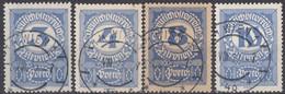 AUSTRIA - OSTERREICH - 1919/1921- Lotto Formato Da 4 Segnatasse Usati: Yvert 87, 88, 90 E 91. - Segnatasse