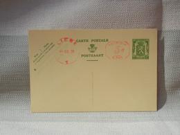 BELGIQUE - ENTIER POSTAL 35c LION HERALDIQUE + 5C PREAFRANCHISSEMENT- OBLIT LIEGE 1938 - NON ENVOYE NEUF - AK [1934-51]