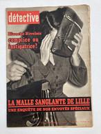 Détective 1962 812 VIERZON NICE PESSINES TOURCOING CHAVILLE METZ COURTRAI CHARLEROI LIEGE - Other