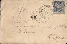 Lettre De Orpierre, Htes Alpes Pour Valernes Bse Alpes, Gap, Sisteron, Volonne,  1893  (bon Etat) - 1877-1920: Semi-Moderne