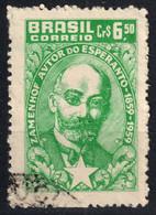 ESPERANTO ZAMENHOF - Birth Anniversary 1959 - BRASIL BRAZIL 1960 - Used - Esperanto