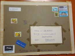 CANADA - 19?? - 4 Stamps + Cinderella - Big Envelope - Viaggiata Da Sechelt Per Antwerpen, Belgium - Storia Postale