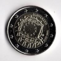 2 EUROS COMMEMORATIVE 2015 SLOVAQUIE PIECE  LEGEREMENT CIRCULLEE - Slovakia
