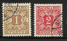 Denmark Scott # J25-6 Used Numeral, 1934 - Port Dû (Taxe)