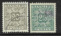 Denmark Scott # J33-4 Used Numeral, 1934 - Port Dû (Taxe)