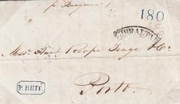 SUBASTA EXPRESS-PREFILATELIA-1839-CARTA-Dirigida A OPORTO. Marcas GIBRALTAR Y P. BRIT - ...-1850 Prefilatelia