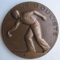 Médaille En Bronze 1980 Le Bouliste, Attribué, Par L. Gibert - Bowls - Pétanque