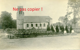 CARTE PHOTO ALLEMANDE EGLISE ET CIMETIERE DE BOIRY SAINT MARTIN PRES DE AYETTE - ADINFER PAS DE CALAIS GUERRE 1914 1918 - Guerre 1914-18